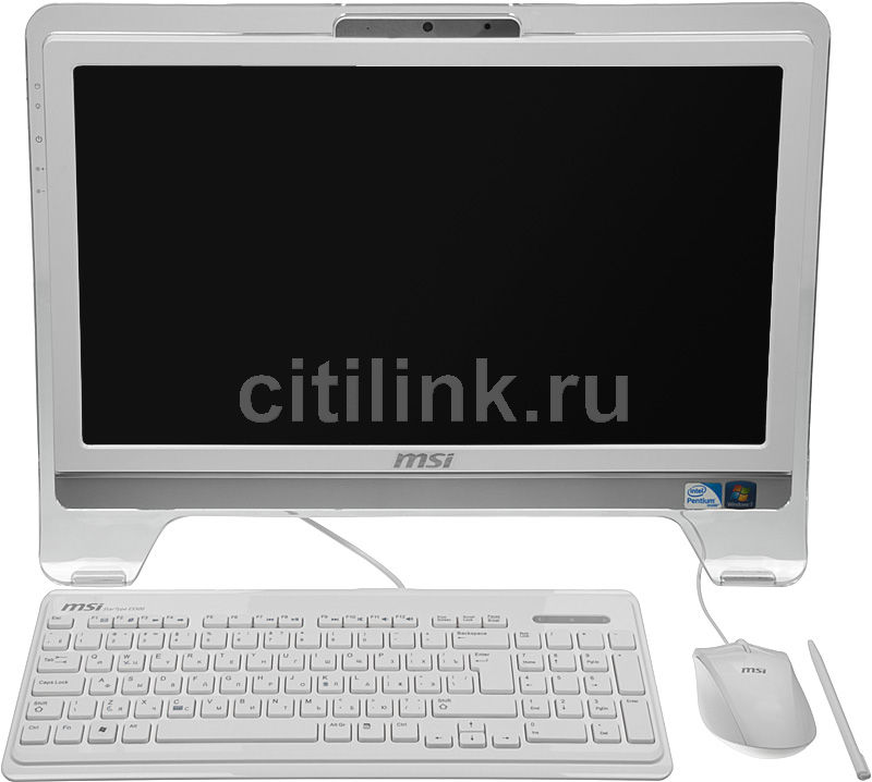 Моноблок MSI AE2070-023RU, Intel Pentium G620, 2Гб, 500Гб, Intel HD Graphics 2000, DVD-RW, Windows 7 Home Premium, белый [9s6aa5212023]