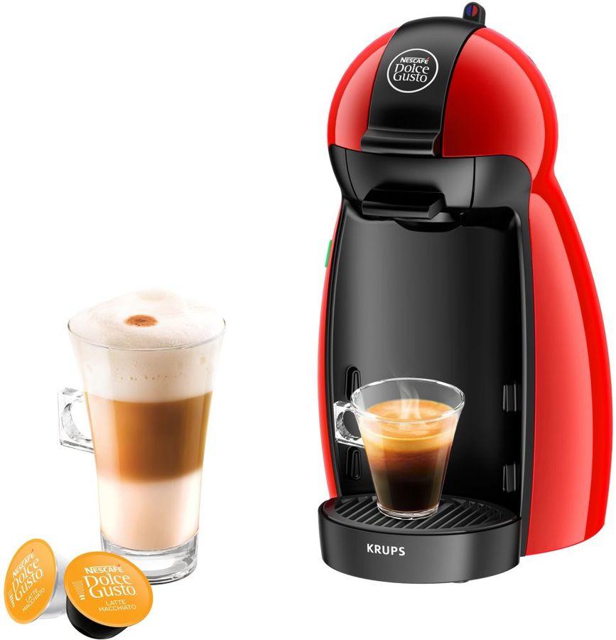 Капсульная кофеварка KRUPS Dolce Gusto KP100610, цвет: красный