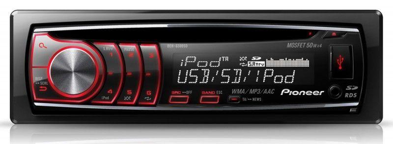 Автомагнитола PIONEER DEH-6300SD,  USB