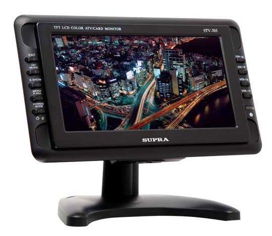 Автомобильный портативный телевизор SUPRA STV-701,  7