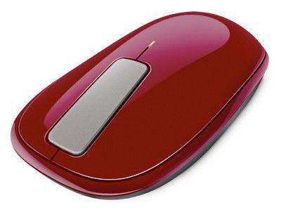 Мышь MICROSOFT Explorer Touch оптическая беспроводная USB, красный [u5k-00016]