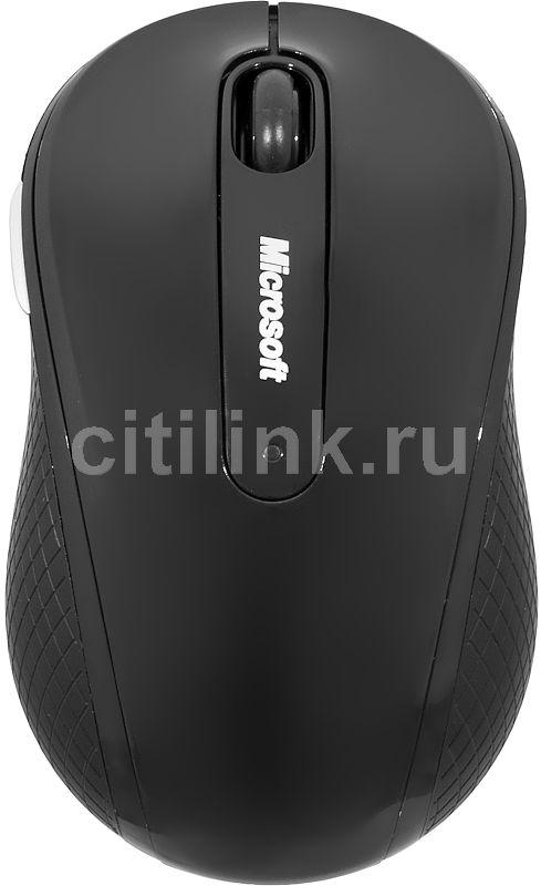 Мышь MICROSOFT 4000 оптическая беспроводная USB, черный [d5d-00114]