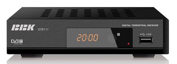 Ресивер DVB-T BBK STB111,  черный