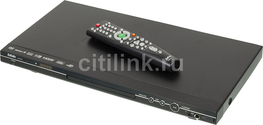 DVD-плеер BBK DVP964HD,  черный,  диск 500 песен [(dvd) player dvp964hd+д500 чер]