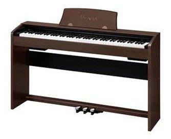 Цифровое фортепиано PRIVIA CASIO PX-735BN, 88, полновзвешенная, полноразмерные, 128, коричневый
