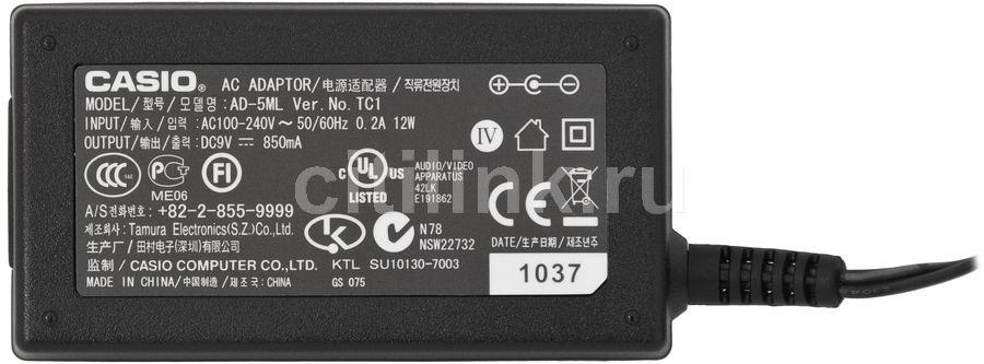 Сетевой адаптер для синтезаторов и цифровых фортепиано CASIO AD-5ML(G) 9V [ad-5g]