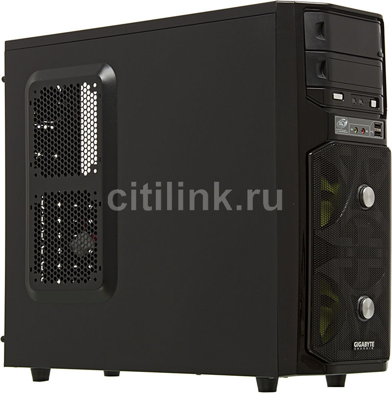 Корпус ATX GIGABYTE GZ-G1, Midi-Tower, без БП,  черный
