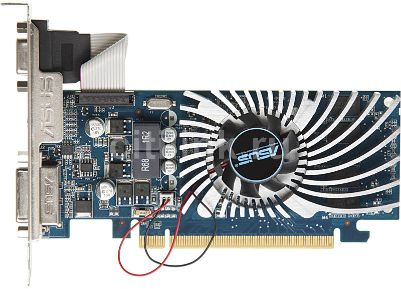 Видеокарта ASUS GeForce 210, EN210/DI/512MD3(LP),  512Мб, DDR3, Low Profile,  Ret