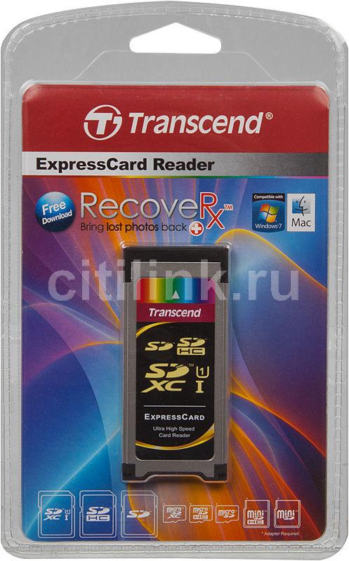 Картридер ExpressCard/34 TRANSCEND TS-RDF1, серебристый