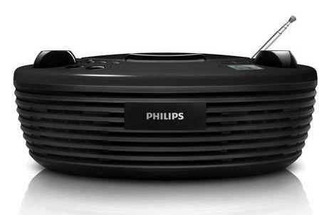 Аудиомагнитола PHILIPS AZ-204/51,  черный