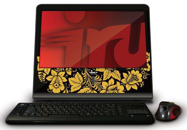 Моноблок IRU AIO 108, Intel Atom D410, 1Гб, 320Гб, Intel GMA 3150, DVD-RW, Ubuntu, черный