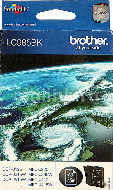 Картридж BROTHER LC985BK черный brother lc985bk