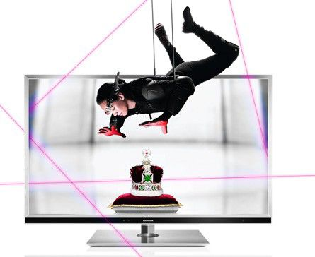 "LED телевизор TOSHIBA 55YL863R  55"", 3D,  FULL HD (1080p),  серебристый"