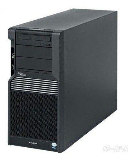 Рабочая станция  FUJITSU CELSIUS R570-2,  Intel  Xeon  E5620,  DDR3 8Гб, 1000Гб,  DVD-RW,  CR,  Windows 7 Professional,  черный [vfy:r5702wf011ru]