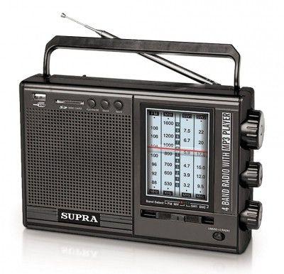 Радиоприемник SUPRA ST-120,  черный