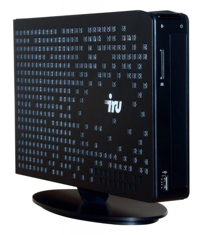 Неттоп iRU 115 Atom D525/2Gb/320/Intel GMA-3150/DVD-RW/CR/WiFi/D-SUB,HDMI,6xUSB,LAN-Gbt/W7-Str/black