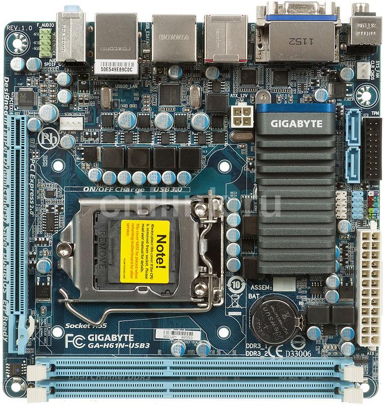 Материнская плата GIGABYTE GA-H61N-USB3 LGA 1155, mini-ITX, Ret