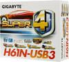 Материнская плата GIGABYTE GA-H61N-USB3 LGA 1155, mini-ITX, Ret вид 6