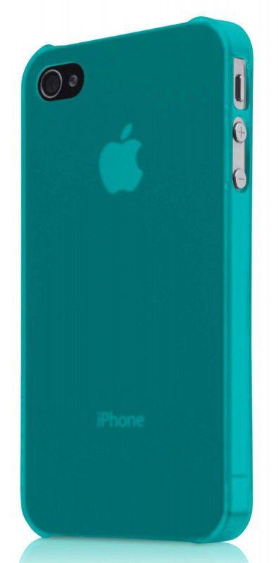 Чехол (флип-кейс) BELKIN F8Z891cwC01, для Apple iPhone 4, бирюзовый