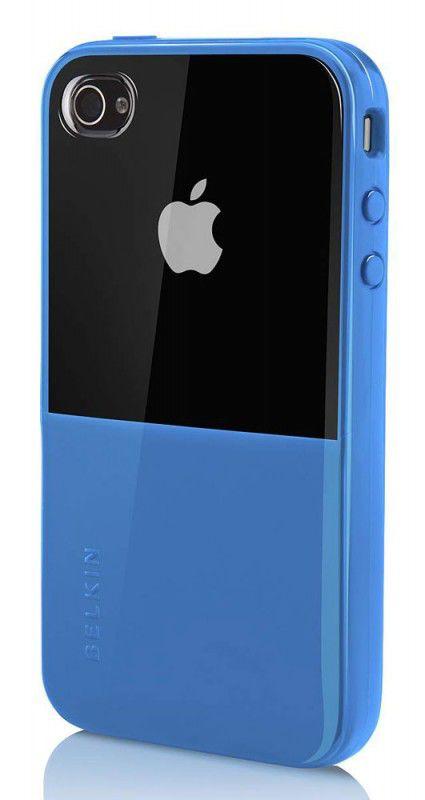 Чехол (клип-кейс) BELKIN Shield Eclpse F8Z621cw142, для Apple iPhone 4, синий