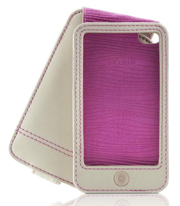 Чехол для iPod 4G Belkin Folio кожа серый F8Z673cw163