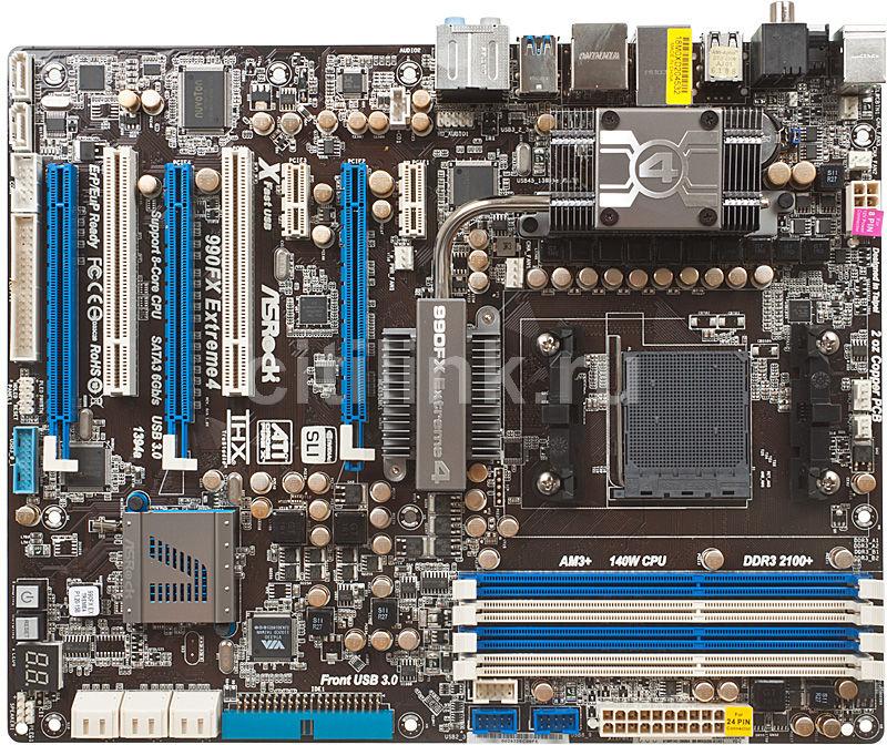 Материнская плата ASROCK 990FX EXTREME4 SocketAM3+, ATX, Ret