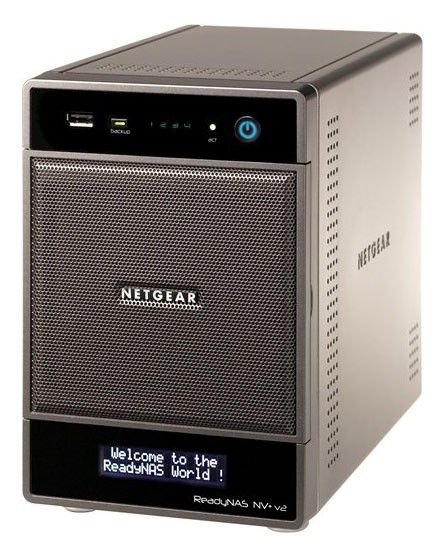 Сетевое хранилище NETGEAR RND4000-200EUS ReadyNAS NV+ v2,  без дисков