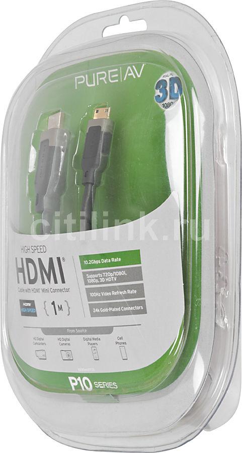 Кабель аудио-видео BELKIN AV10071qn1M,  HDMI (m)  (Mini HDMI (m)) -  Mini HDMI (m) ,  1м, серый
