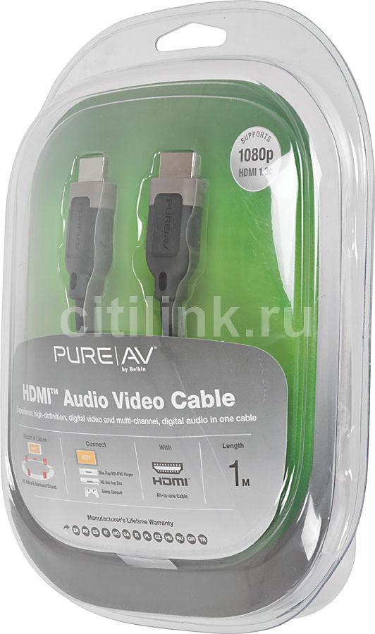 Кабель аудио-видео BELKIN AD22300qn1M,  HDMI (m)  -  HDMI (m) ,  1м