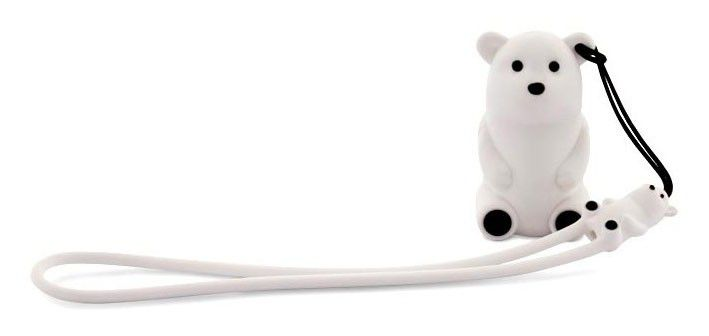 Флешка USB BONE Polar bear 8Гб, USB2.0, белый [pk110108-8w]