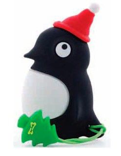Флешка USB BONE Santa Penguin 4Гб, USB2.0, черный [pk110112-4sbk]