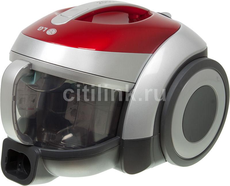 Пылесос LG VK77103RU, 2000Вт, красный