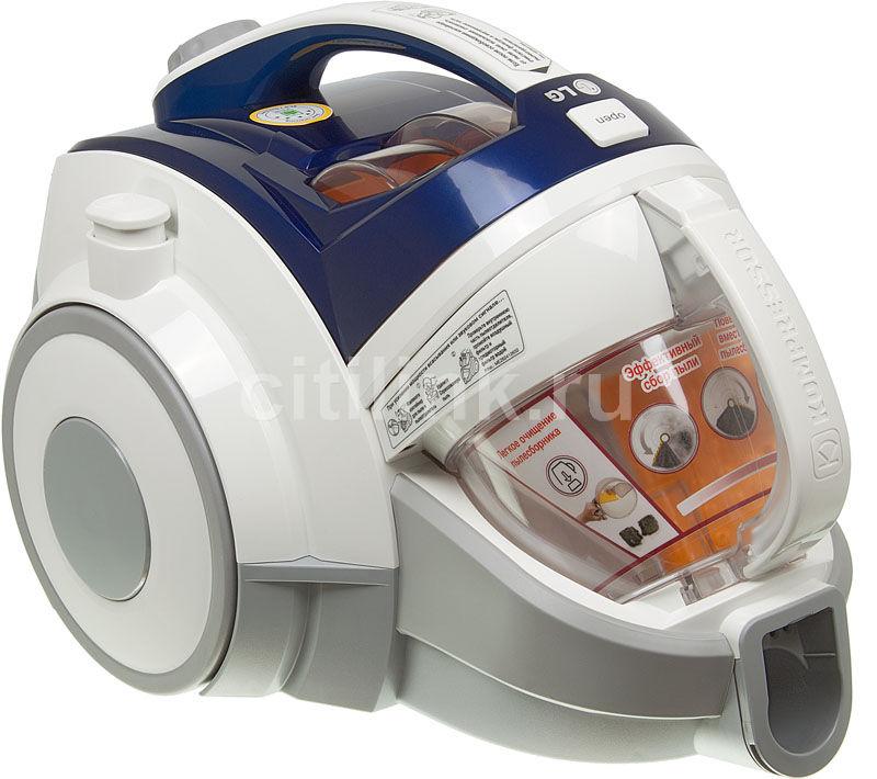 Пылесос LG VK89282R, 1800Вт, белый/синий