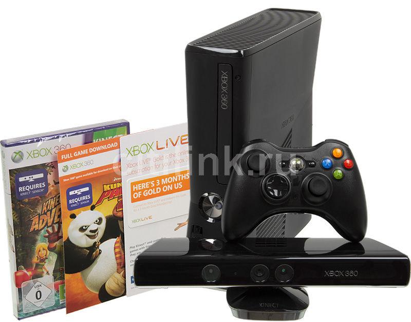 Игровая консоль MICROSOFT Xbox 360 S9G-00027, черный