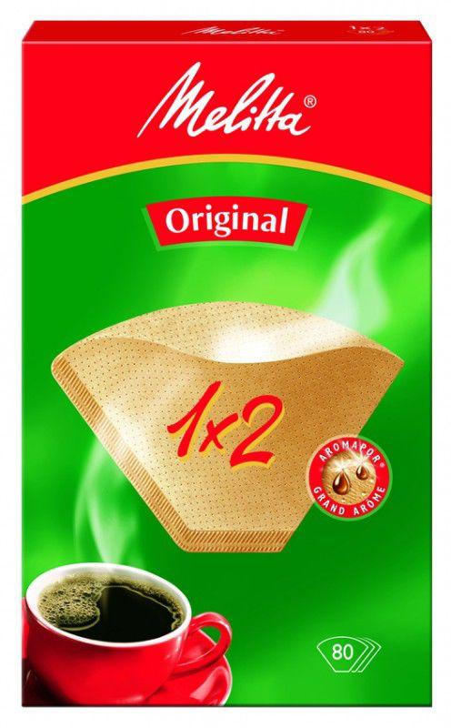 Фильтры для кофе MELITTA для кофеварок капельного типа,  бумажные,  1x2,  80 шт,  коричневый