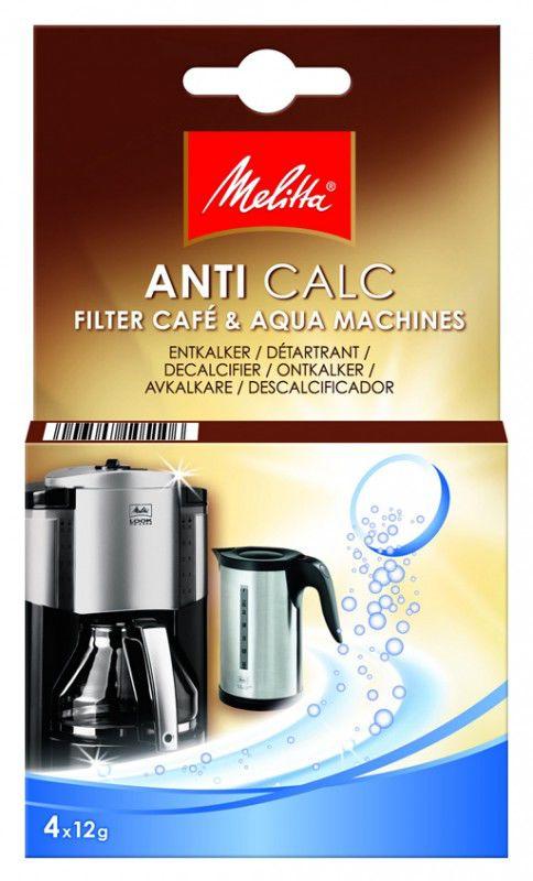 Очищающие таблетки MELITTA для кофеварок и чайников,  4 шт