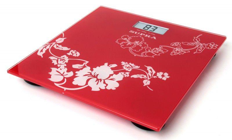 Весы SUPRA BSS-2000, до 150кг, цвет: красный