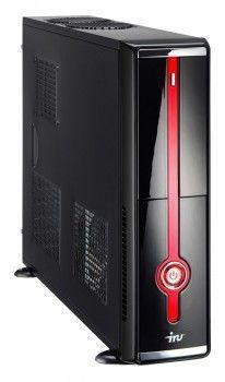Компьютер  IRU Corp 310,  Intel  Atom  D410,  DDR2 1Гб, 250Гб,  Intel GMA 3150,  DVD-RW,  noOS,  черный и красный