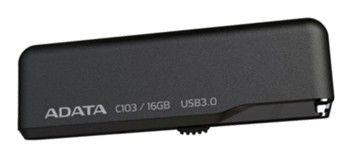 Флешка USB A-DATA Classic C103 16Гб, USB3.0, черный [ac103-16gb-rbk]