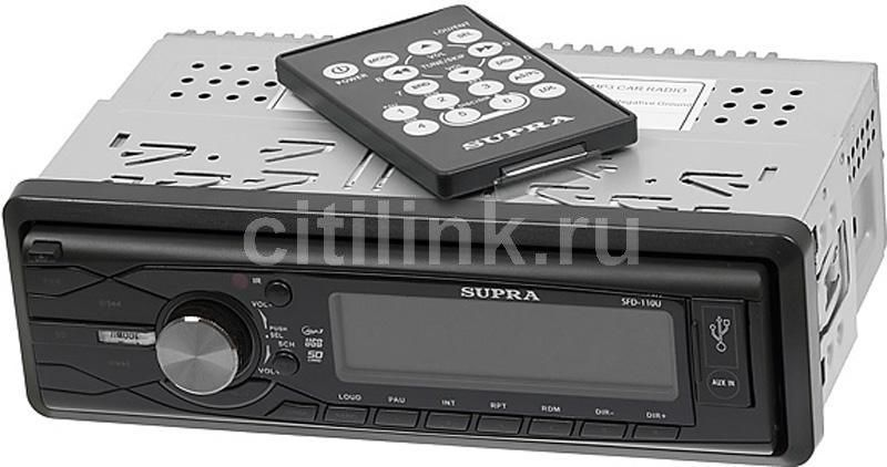 Автомагнитола SUPRA SFD-110U,  USB,  SD/MMC