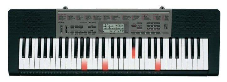 Синтезатор CASIO LК-240, 61, невзвешенная, полноразмерные, 48, черный [lk-240]