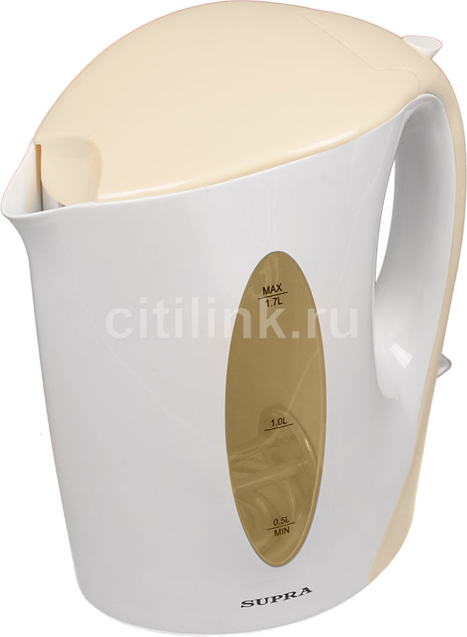 Чайник электрический SUPRA KES-1702, 2200Вт, белый и бежевый