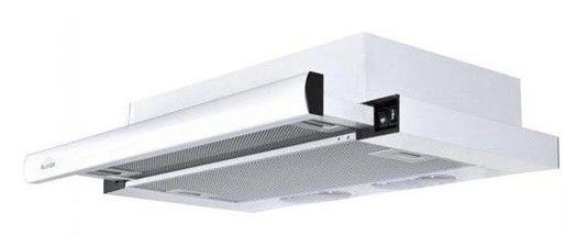 Вытяжка встраиваемая Elikor Интегра 60П-400-В2Л белый управление: кнопочное (1 мотор)
