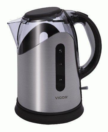 Чайник электрический VIGOR HX-2070, 2200Вт, серый