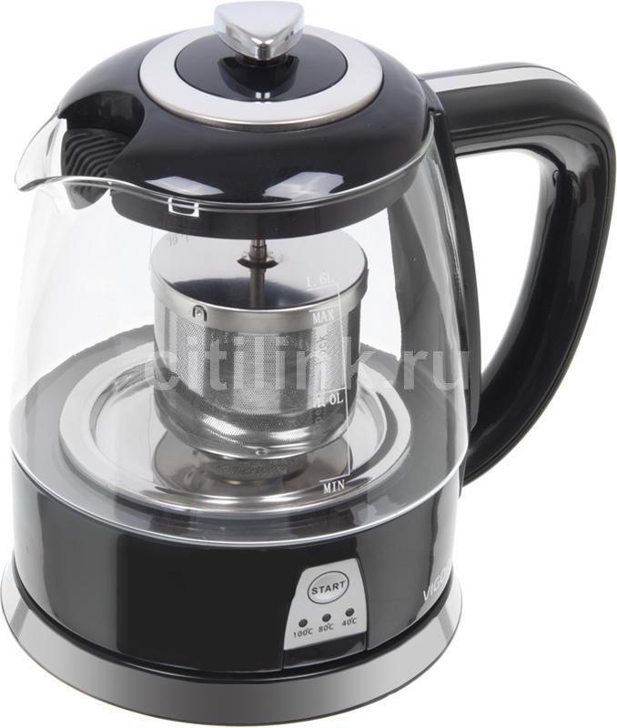 Чайник электрический VIGOR HX-2081, 1700Вт, черный