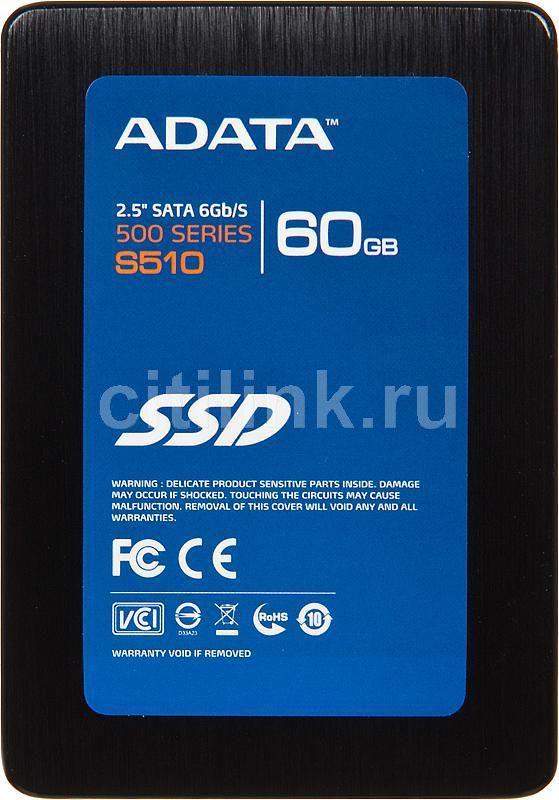 "SSD накопитель A-DATA S510 60Гб, 2.5"", SATA III [as510s3-60gm-c]"