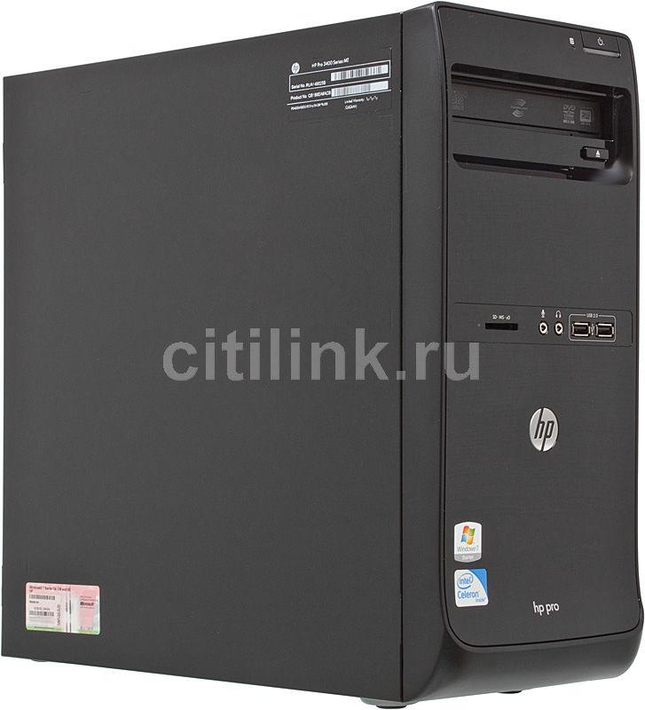 Компьютер  HP Pro 3400MT,  Intel  Celeron  G530,  DDR3 2Гб, 500Гб,  Intel HD Graphics,  DVD-RW,  Windows 7 Starter,  черный [qb188ea]