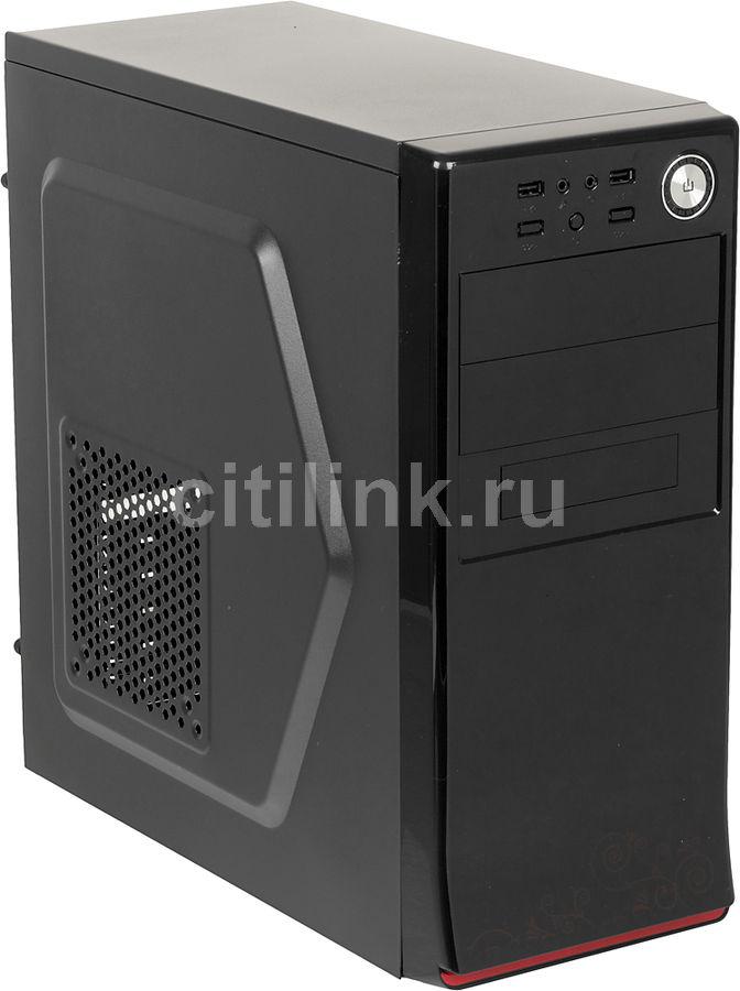 Корпус ACCORD A-80B black w/o PSU ATX 2*USB Audio (плохая упаковка)