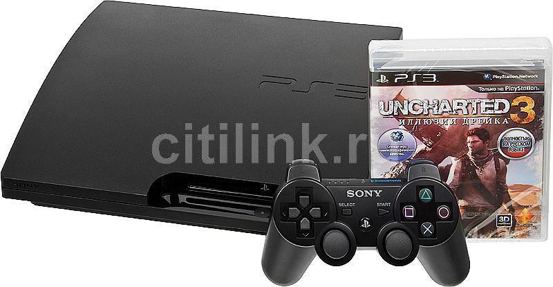 Игровая консоль SONY PlayStation 3 PS719172291, черный