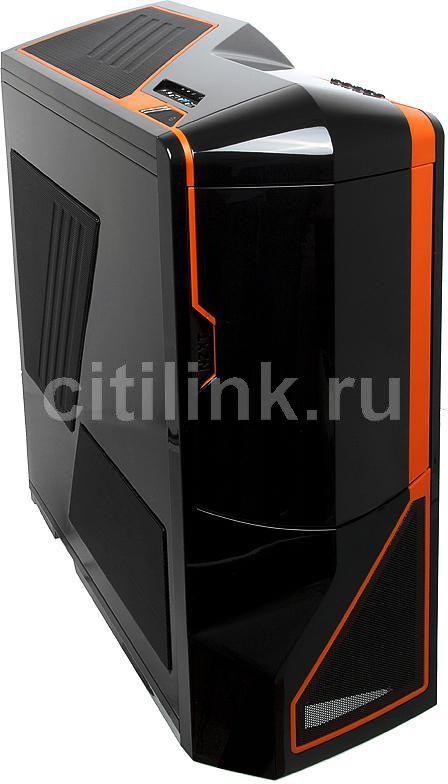 Корпус E-ATX NZXT Phantom, Full-Tower, без БП,  черный и оранжевый